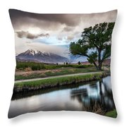 Bishop Canal Throw Pillow