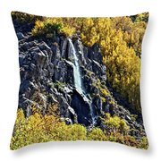 Bishop Creek Falls Throw Pillow