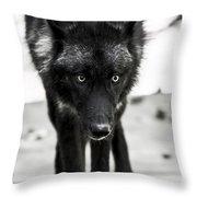 Bishop Wolf Throw Pillow