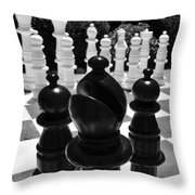 Bishops Move Throw Pillow