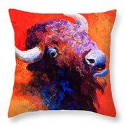 Bison Attitude Throw Pillow