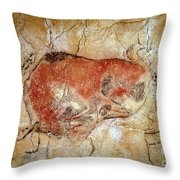 Bison From The Altamira Caves Throw Pillow