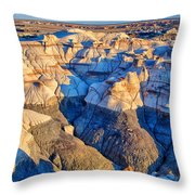 Bisti Badlands 10 Throw Pillow