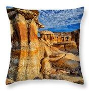 Bisti Badlands 12 Throw Pillow