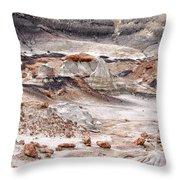 Bisti Badlands 5 Throw Pillow