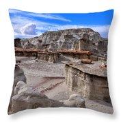 Bisti Badlands 8 Throw Pillow
