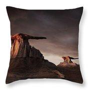 Bisti Badlands, New Mexico, Usa Throw Pillow