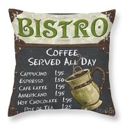 Bistro Chalkboard  Throw Pillow