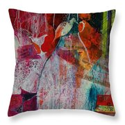 Bistro Chatter Throw Pillow