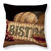 Bistro Still Life II Throw Pillow by Tom Mc Nemar