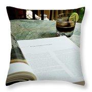Bistro Table Study, Balcony Garden, Hunter Hill, Hagerstown, Mar Throw Pillow