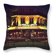 Bistrot Le Champ De Mars Throw Pillow