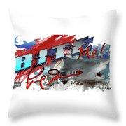 Bite Me Red Graphic Lemon Shark Throw Pillow