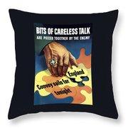 Bits Of Careless Talk Throw Pillow