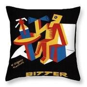Bitter Campari - Aperitivo - Vintage Beer Advertising Poster Throw Pillow