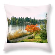 Bitter Lake Seattle Throw Pillow
