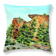 Bitterroot Cliffs Throw Pillow
