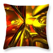 Bittersweet Abstract Throw Pillow by Alexander Butler