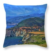 Bixby Bridge 1 Throw Pillow