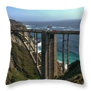 Bixby Creek Bridge 5 Throw Pillow