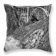 Bixby Creek Bridge Big Sur Photo  Circa 1939 Throw Pillow