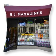 B.j. Magazines New York Throw Pillow