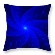 Bkue Pinwheel Throw Pillow