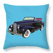 Black 1938 Cadillac Lasalle Throw Pillow