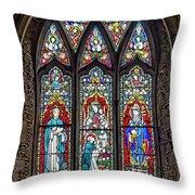 Black Abbey Window - Kilkenny - Ireland Throw Pillow