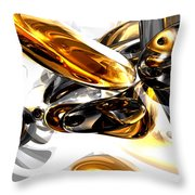 Black Amber Abstract Throw Pillow