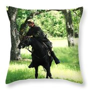 Black Amongst The Green Throw Pillow