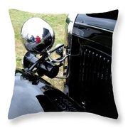 Black And Chrome Throw Pillow