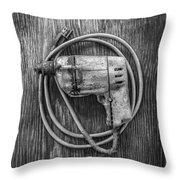 Black And Decker Drill Throw Pillow