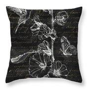 Black And Gold Hummingbirds 2 Throw Pillow