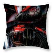 Black And Red Harley 5966 H_2 Throw Pillow