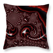 Black And Red Tornados Throw Pillow
