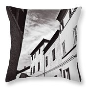 Black And View Italy Throw Pillow
