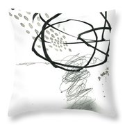 Black And White # 10 Throw Pillow