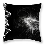 Black And White - 2 - Negative Throw Pillow