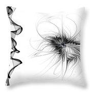 Black And White - 2 Throw Pillow