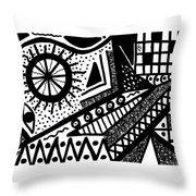 Black And White 15 Throw Pillow