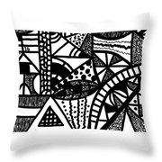 Black And White 16 Throw Pillow