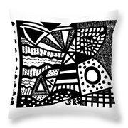 Black And White 19 Throw Pillow
