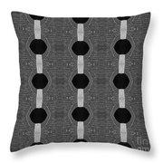 Black And White 2 Throw Pillow
