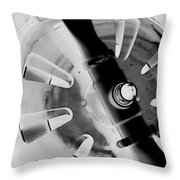 Black And White Abstract 1 Throw Pillow