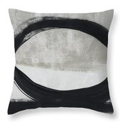 Black And White Abstract 2- Art By Linda Woods Throw Pillow
