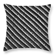 Black And White Abstract Lines Throw Pillow