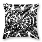 Black And White Abstracts Throw Pillow