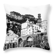 Black And White Amalfi Throw Pillow