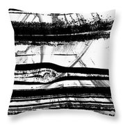 Black And White Art - Layers - Sharon Cummings Throw Pillow